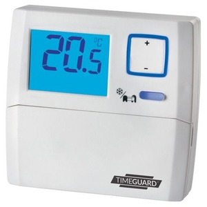 Timeguard 230V 3A Digital Room Thermostat with Night Set-Back 95 x 90 x 32mm White