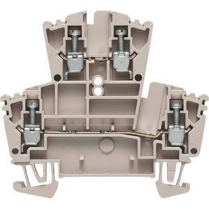 Weidmüller WDK 400V 24A Double-Tier Feed-Through Terminal Block 69.5 x 5.1 x 62.5mm Dark Beige