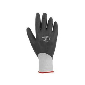 Polyco Matrix F Grip Fully Coated Seamless Knitted Foamed Nitrile Glove Size 9 Black