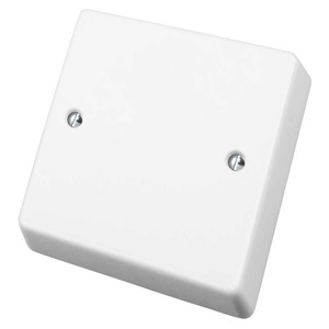 Crabtree Capital Blank Plate 1-Gang 86 x 86mm White