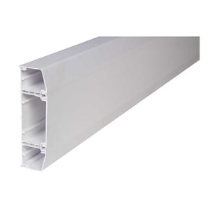 Macro Apollo uPVC Chamfered Top and Square Bottom Lids Trunking System 170 x 50mm White
