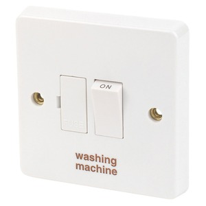 Crabtree Washing Machine Switched Fuse Connection Unit with Neon 1-Gang 2-Pole 13A White