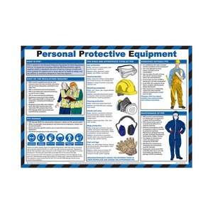Personal Protective Equipment Guidance Poster 590x420mm