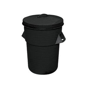Plastic 94 Litre Dustbin with Lid Black