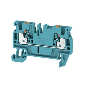 Weidmuller Klippon 2.5mm² A2C 2.5 BL Push-In Feed-Through Terminal Block 24A 800V Blue (Pack of 100)