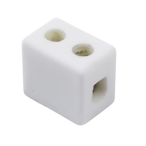 Niglon 1-Pole 450V 5A Porcelain Electrical Connector 18 x 12 x 16mm