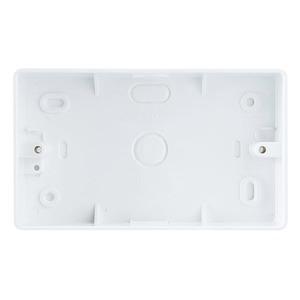 BG Round Edge 2-Gang Pattress Box 147 x 87 x 32mm White