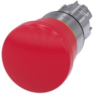 Siemens SIRIUS-ACT Round Mushroom Emergency Stop Pushbutton Pull-To-Unlatch 40mm Metal Red