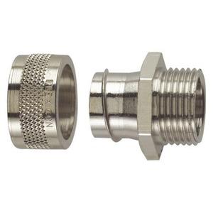 Flexicon FSU Nickel Plated Brass Fixed Male Connector M40