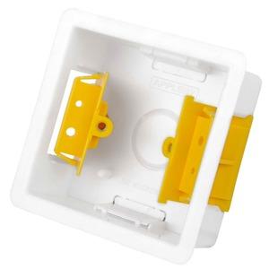 Appleby Adjustable Lug Dry Lining Box 1-Gang 83 x 83 x 35mm White