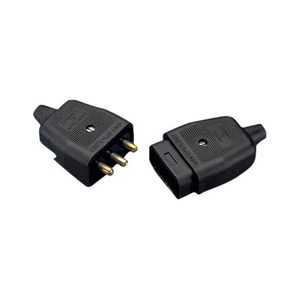 Newlec 3 Pin In-Line Connector Black