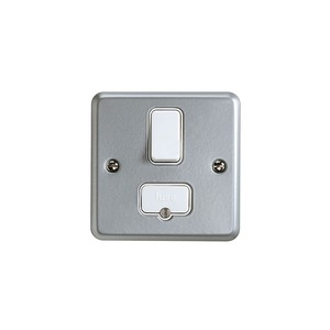 MK Metaclad Plus™ 2-Pole 13A Fused Connection Unit 86 x 86 x 47mm Grey