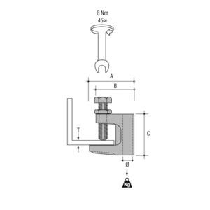 Newlec Girder Clamp For Threaded Rod 19 x 11mm