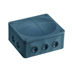 Wiska COMBI 14-Inlet 10mm² Polypropylene Junction Box 160 x 140 x 81mm Black
