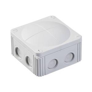 Wiska COMBI 607/5 10-Inlet Polypropylene Junction Box 6mm² 110 x 110 x 66mm Grey