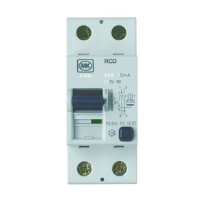 MK Sentry 2-Pole 63A Residual Current Circuit Breaker