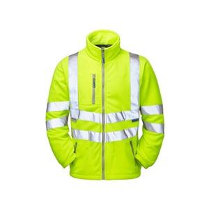 Classic Hi-Vis Interactive Fleece Jacket with Reflective Tape Large Yellow