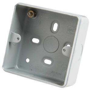 MK Electric Surface Steel Mount Back Box 1/2-Gang 46mm