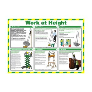 Working at Height Guidance Poster 590x420mm
