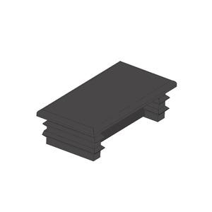 Newlec Channel End Cap 41 x 21mm Black