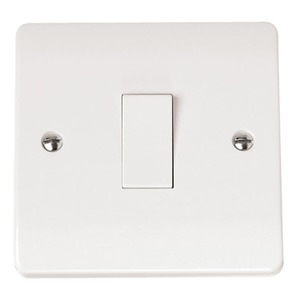 Scolmore CLICK MODE Plate Switch 1-Gang 2-Way 10AX