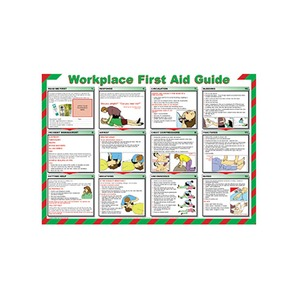 Workplace First Aid Guide Safety Poster 840x590mm