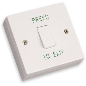 Newlec Surface Mount Single Gang Exit Button 85 x 85 x 30mm