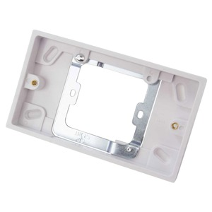 Volex Socket Conversion Pattress Box 2-Gang 20mm White