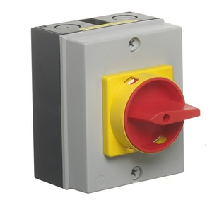 Newlec Compact 4-Pole 32A Insulated Enclosed Switch Disconnect 125 x 100 x 70mm