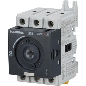 Socomec Non-Fusible Disconnect Switch 3-Pole 600V 20A