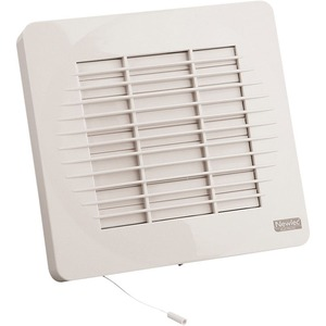 Newlec Standard Automatic Shutter Fan 150mm with Pull Cord