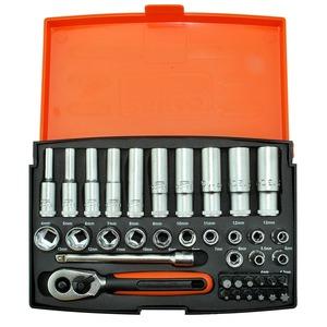"""37-Piece Standard & Deep Socket Set 1/4"""""""