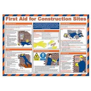 First Aid for Construction Sites Poster 590x420mm