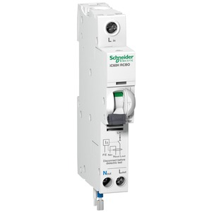 Schneider Acti9 iC60H 1-Pole + Neutral 10A Curve-C Residual Current Circuit Breaker